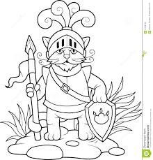 cat knight stock vector image 61599709