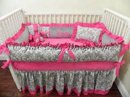 Gray And Pink Crib Bedding Pink Crib Bedding On Clearance Home Inspirations Design Pink
