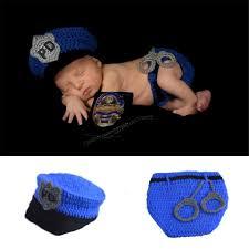 boys police officer halloween costume online shop 2016 latest newborn baby boys crochet photo props