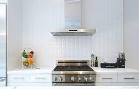 kitchen ceramic tile backsplash white ceramic tile backsplash in the kitchen adds depth to setting
