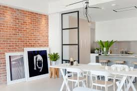 brick wall apartment apartments brick wall and art work give the london apartment an