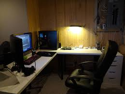 Gaming Desk Ideas by Corner L Shaped Gaming Desk L Shaped Gaming Desk Ideas