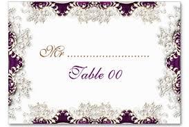 wedding card templates vintage purple wedding place cards