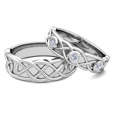 celtic knot wedding bands matching wedding band 18k gold celtic diamond wedding ring