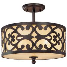 semi flush dining room light minka lavery nanti 3 light iron oxide semi flush mount light