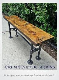 Benches On Division Reclaimed Wood U0026 Steel Pipe Bench By Breadandbutterto On Etsy