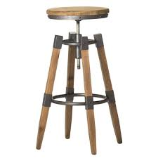 aurelle home industrial wood and iron adjustable bar stool free
