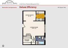 Efficiency Floor Plans Monticello Lee Rental Apartments Alexandria Virginia Va 22314