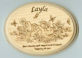 Baby Plaques Scorch U0027s Pyrography Plaques U0026 Signs