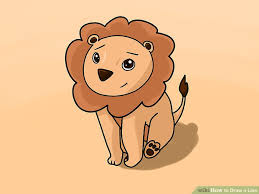 4 ways draw lion wikihow