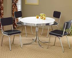 round dining table u0026 upholstered chairs cleveland co 2388set