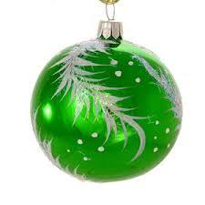 ornaments world twig green glass