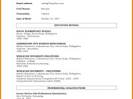 curriculum vitae format for freshers doc awfulme sle format for teachers education lecturer in