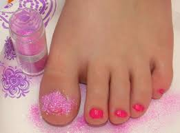 diy glitter toes quick and easy sparkly nails that will last for