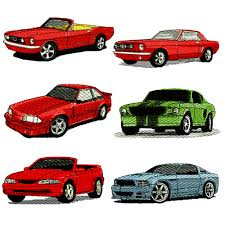 mustang designs ford mustang embroidery design discount value pack