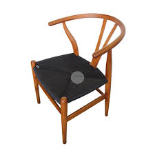 hans wegner wishbone chair replica walnut black cord furniture