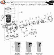 jacuzzi magnum magnum plus and magnum force pump parts