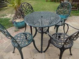 Cast Aluminium Garden Table And Chairs Cast Aluminium Garden Set Table And 4 Chairs Modern Style