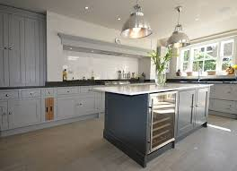 Kitchen Unit Lighting Grey Kitchen With Kitchen Cupboards In Farrow And L Room