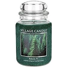 candle balsam fir 26 oz glass jar scented