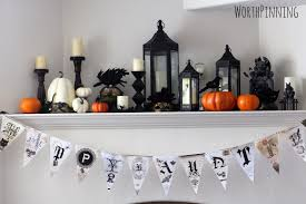 worth pinning halloween glam mask mantel
