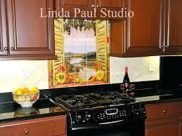 ceramic tile murals for kitchen backsplash ceramic tile murals for kitchen backsplash sunflowers vineyard tile