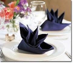 how to fold napkins for a wedding boat or bird of paradise napkin fold napkin folds