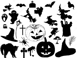 halloween background child halloween background with silhouettes of trick or treating child