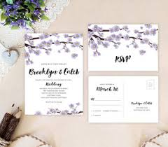Wedding Invitation Sets Purple Wedding Invitations Lemonwedding