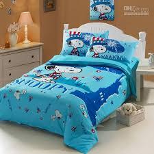 Snoopy Bed Set Blue Snoopy Baby Boy Duvet Cover Sheet Set
