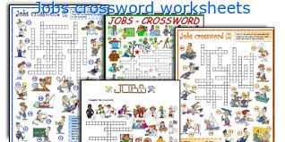 english teaching worksheets jobs crossword