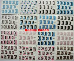 121 style sparkle french nail decal fashion korea design 3d nail