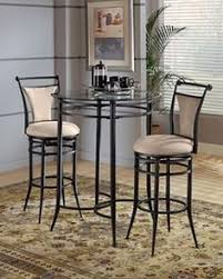 Bistro Table Set Kitchen by Tall Pub Table With Tucked Stools To Replace Kitchen Island For