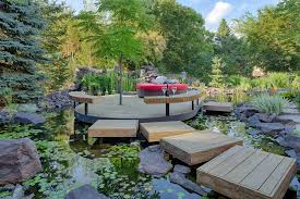 rustic landscaping ideas deck asian with rustic landscape curved deck