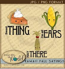 kawaii fall thanksgiving sayings pumpkin pie hay stack