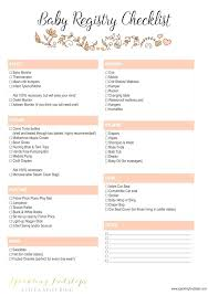 bridal registry checklist printable your free baby registry checklist printable nursery australia best