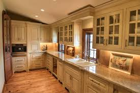 kitchen cabinet designs kitchen rustic with wood flooring glass