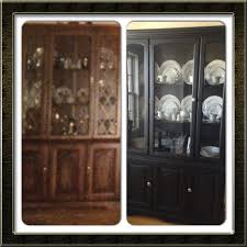 Repurposed Furniture Before And After by Painting Furniture Dining Room Redo China Cabinet Hutch