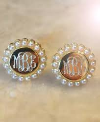 Monogrammed Earrings Pearls Forever Accessorize With This Monogrammed Pearl Ring From