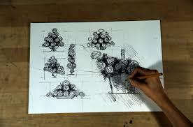 Flower Designs On Paper Create A Flower Basket