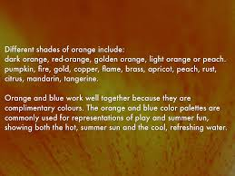 Light Orange Color by Colour Meanings By Henrica Burns