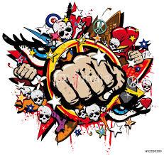 graffiti fist freefight club symbol pop art wall sticker wall graffiti fist freefight club symbol pop art wall sticker