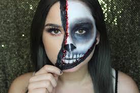 skeleton halloween make up unzipped skull face halloween tutorial jenn lee youtube