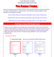 Online Resume Generator Create Free Resume Online Resume Template And Professional Resume