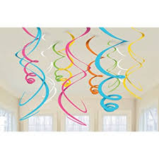 multi coloured swirl decorations pack of 12 co uk