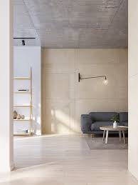 Plywood Design Minimalist Apartment For A Family Of Four