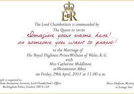 royal wedding invitation create you a replica william and kate royal wedding invitation and