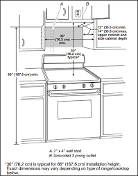 Standard Height For Kitchen Cabinets Install An Over The Range Microwave Oven
