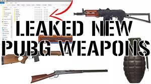 pubg weapons new leaked pubg weapons maps vehicles and more youtube