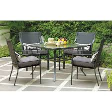 Walmart Patio Table And Chairs Mainstays Alexandra Square 5 Patio Dining Set Grey With